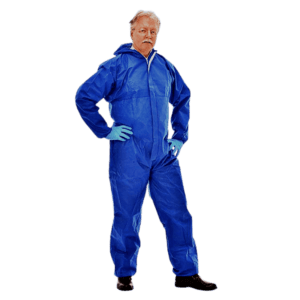 Einweg Schutzoverall gegen Chemikalien Tritex® Pro Blau Kat. III Typ 5 + 6 CE 0321