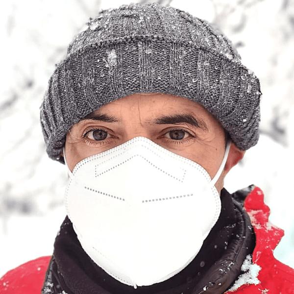 FFP2 Masken ohne Filter Weiß