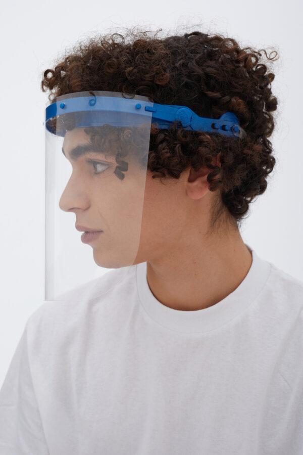 Antifog Face Shield Blau DIN EN 166 Zertifiziert Blau