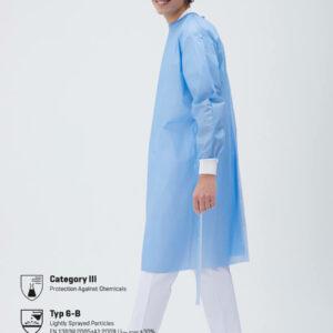 Medizinische Einweg Schutzkittel Medical Blau