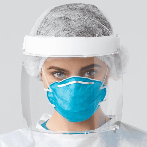 Persönlicher Augenschutz, Gesichtsschutz mit klarem Visier, Antibeschlag, Arbeitssicherheit