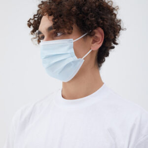 Mund-Nasen-Schutz OP-Maske (MNS) 3-Lagig Schnellschutz für Erwachsene Mint Grün