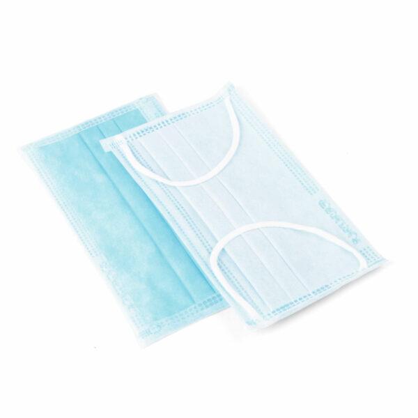 Kinder Mund-Nasen-Schnellschutz OP-Maske (MNS) 3-Lagig Blau