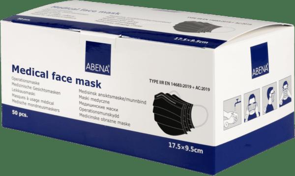 Medizinischer Mundschutz Schwarz