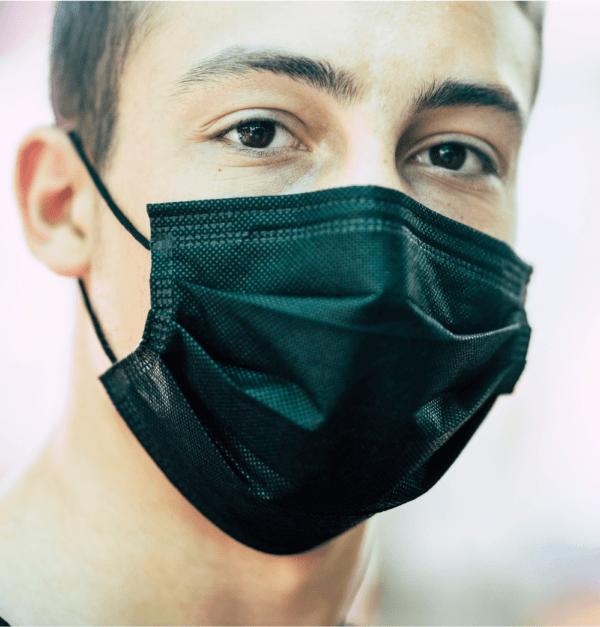 Einweg Mundschutz Schwarz