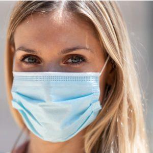 zetMedica® OP-Mundschutz Maske Vlies Blau 3-lagig EN-14683 Typ IIR - made in germany